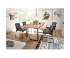 Tischgruppe DELHI Breite 180 cm Farbe Natur Akazie Massivholz von Empinio24