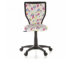 Kinderschreibtischstuhl / Kinderstuhl KIDDY LUX Flowers & Hearts Stoff rose hjh OFFICE