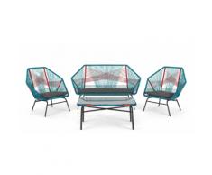 Copa 4-tlg. Lounge-Set, Mehrfarbig