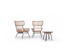 Lyra 3-tlg. Lounge-Set, Anthrazit
