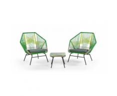 Copa 3-tlg. Lounge-Set, Zitrusgruen