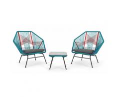 Copa 3-tlg. Lounge-Set, Mehrfarbig