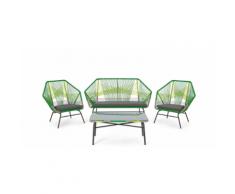 Copa 4-tlg. Lounge-Set, Zitrusgruen