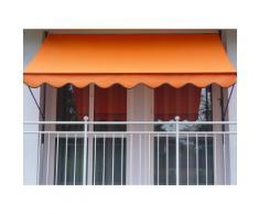 Klemmmarkise Design Uni Orange PE