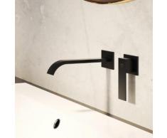 Steinberg Serie 135 Fertigmontageset für Waschtisch-Einhebelmischer schwarz matt, Ausladung: 200 mm 135 1814 S