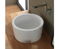 Scarabeo Bucket Aufsatzwaschbecken Ø 42 H: 22 cm weiß, mit BIO System Beschichtung 8807BK