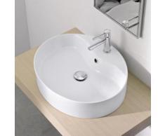 Scarabeo Wind R Aufsatzwaschbecken B: 54,5 H: 12,8 T: 45 cm weiß, mit BIO System Beschichtung 8030RBK