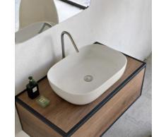 Scarabeo Glam Aufsatzwaschbecken B: 56 H: 14 T: 39 cm weiß matt, mit BIO System Beschichtung 180441BK