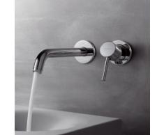 Kludi BOZZ Wand-Waschtischarmatur Unterputz Ausladung: 220 mm, chrom 382450576