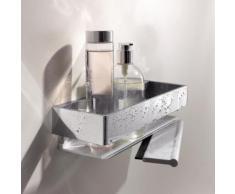 Keuco Edition 11 Duschkorb mit Duschabzieher B: 300 H: 82 T: 95 mm silber eloxiert/chrom 11159010000