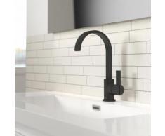 Treos Serie 195 Einhebel-Waschtischarmatur, mit Ablaufgarnitur schwarz matt 195.01.15002