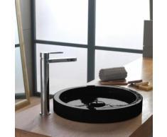 Scarabeo Bucket Aufsatzwaschbecken Ø 35 H: 6,4 cm schwarz, mit BIO System Beschichtung 881135BK