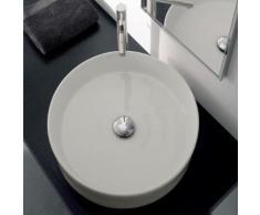 Scarabeo Geo Aufsatzwaschbecken Ø 45 H: 13 cm weiß, mit BIO System Beschichtung 8029BK