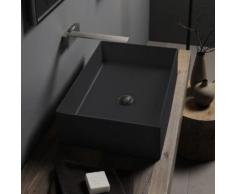 Scarabeo Teorema 2.0 Aufsatzwaschbecken B: 60 H: 14 T: 40 cm schwarz matt, mit BIO System Beschichtung 510149BK