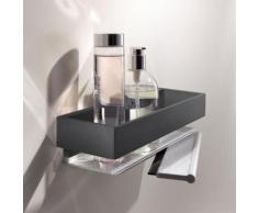 Keuco Edition 11 Duschkorb mit Duschabzieher B: 300 H: 82 T: 95 mm silber eloxiert/schwarz chrom gebürstet 11159130000