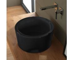 Scarabeo Bucket Aufsatzwaschbecken Ø 35 H: 22 cm schwarz, mit BIO System Beschichtung 880835BK