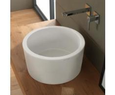 Scarabeo Bucket Aufsatzwaschbecken Ø 42 H: 22 cm weiß matt, mit BIO System Beschichtung 880741BK