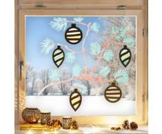 JAKO-O Fensterbild Weihnachts-Kugeln, bunt