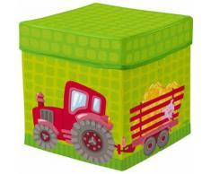 HABA Sitzwürfel Traktor, grün