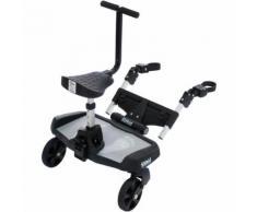 Buggyboard mit Zusatzsitz, schwarz