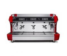 MORGAN Siebträgermaschine - 3 Gruppig - Rot/ Espressomaschine/ Kaffeemaschine/ Gastro/ Milchaufschäumer/ Espresso/ Cappuccino