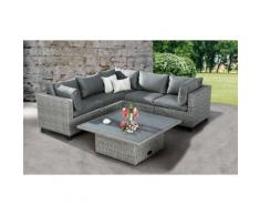 BEST 6-tlg. Lounge-Set Bonaire warm-gray 98896106