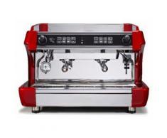 MORGAN Siebträgermaschine - 2 Gruppig - Rot/ Espressomaschine/ Kaffeemaschine/ Gastro/ Milchaufschäumer/ Espresso/ Cappuccino