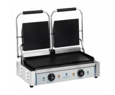 Royal Catering Doppel Kontaktgrill - glatt - 2 x 1.800 W RCKG- 3600-F