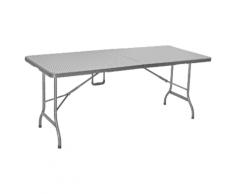 Tarrington House faltbarer Tisch, mit gebogenem Stahlrohrgestell, Rattan