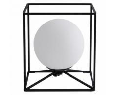 Retro Kugel Tisch Lampe Wohn Arbeits Zimmer Käfig Design Glas Lampe im Set inkl. LED Leuchtmittel