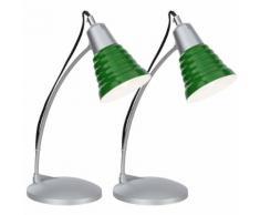 2er Set Tischlampe Tischleuchte Schreibtischleuchte grün inklusive LED GIGA