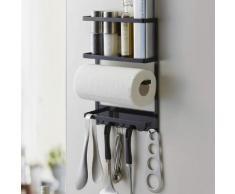 Yamazaki Home Utensilienhalter magnetisch Küche Kühlschrank Halterung Metall schwarz 02745