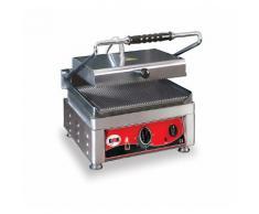 GMG - Kontaktgrill - ▲ & ▼ Gerillt - mit Grillplatten aus Gusseisen, Fettauffangschale und Temperaturregelung 50° - 300° C