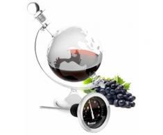 Cognac Wein Karaffe Thermometer Set Glaskaraffe Edelstahl Glas Geschenkidee