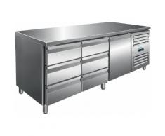 Saro Kühltisch inkl. 2 x 3er Schubladenset / Modell KYLJA 3150 TN; VE: 1