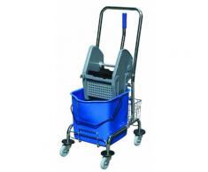 CleanSV Einfachfahreimer / Putzwagen 17 Liter mit Metallrahmen und Ablagekörbchen