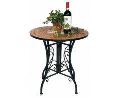 Tisch Mosaik Merano 12001 Gartentisch D-60 cm Metall Beistelltisch Esstisch