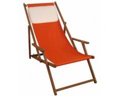 Strandstuhl terracotta Gartenstuhl Sonnenliege Deckchair Buche dunkel Kissen klappbar 10-309KH