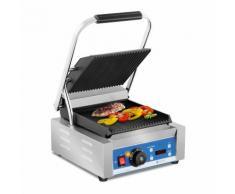 Royal Catering Kontaktgrill - geriffelt- Timer - 1.800 W RCKG-2200-GY