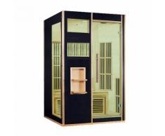 Designer Sauna Andenes in schwarz Infrarotkabine Infrarotsauna