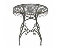 Tisch Gartentisch Malega 12184 Bistrotisch 68 cm Beistelltisch Metall Eisen