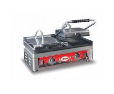 GMG - Doppel-Kontaktgrill - ▲ & ▼ Gerillt - mit Grillplatten aus Gusseisen, Fettauffangschale und Temperaturregelung 50° - 300° C