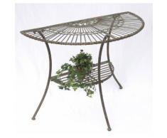 """Tisch Wandtisch """"Malega"""" 100531 Beistelltisch aus Metall 100 cm Gartentisch Halb"""