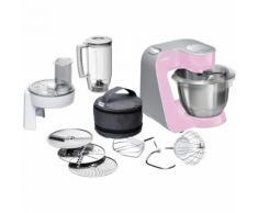 Bosch MUM58K20 Küchenmaschine 3,9 l Grau, Pink, Edelstahl 1000 W