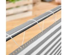 Windhager Balkonblende SYLT grau weiss Sichschutz, 5x0,9 m