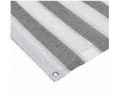 Balkon Sichtschutz Grau-Weiß 0,9x3m