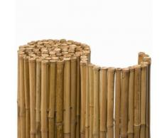 NOOR Bambusmatte Deluxe Sichtschutzmatte, 1x2,5 m (HxB)