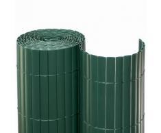 Sichtschutzmatte PVC Grün Sichtschutzzaun, 2x10 m