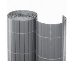 Sichtschutzmatte PVC silber