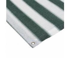 Balkon Sichtschutz Grün-Weiß 0,9x3m